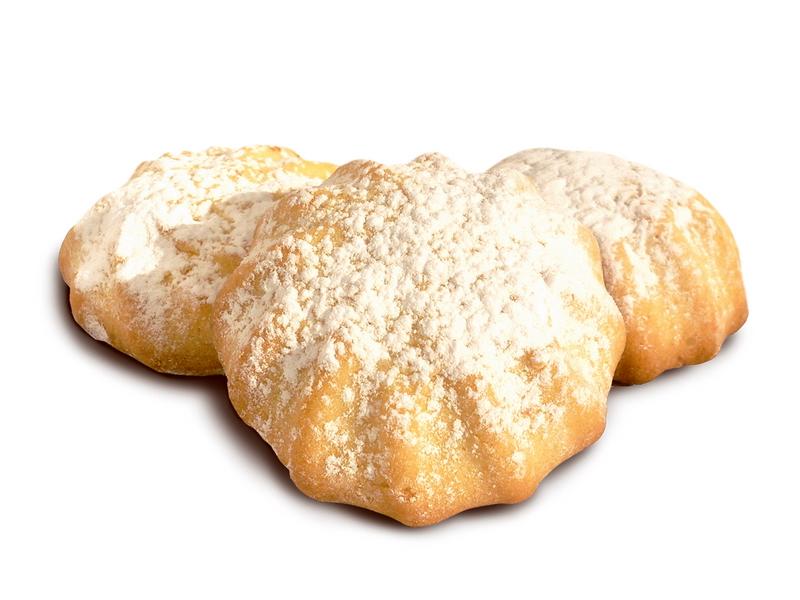 Sausainiai su žemuogių įdaru ir pudra