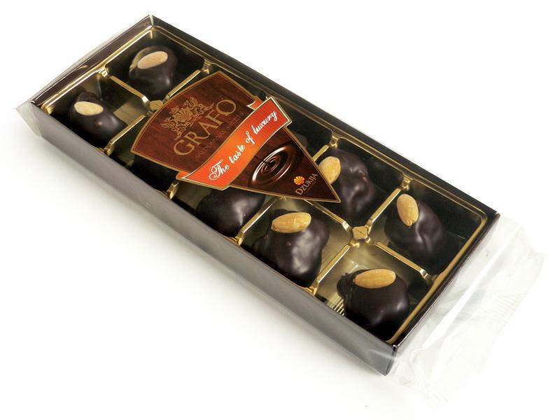"""""""GRAFO"""" marcipanas juodame šokolade 150g."""