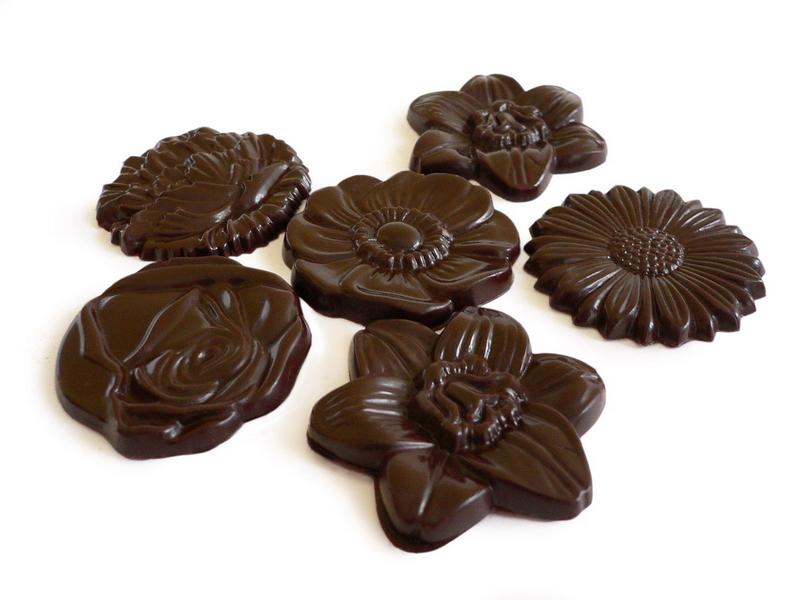 Šokoladinės gėlytės