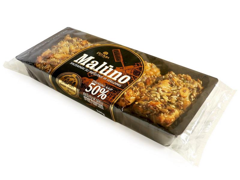 """Sausainiai """"Malūno"""" su riešutais ir sėklomis"""