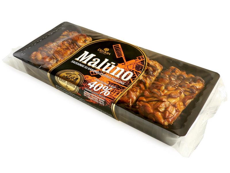 """Sausainiai """"MALŪNO"""" su karamelizuotais riešutais 200g."""