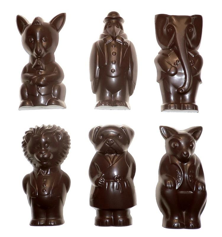Šokoladinių žvėrelių asorti 19g.