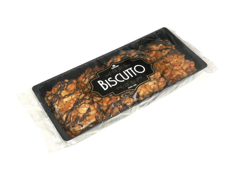 Sausainiai su karamelizuotais riešutais (Biscutto) 200g.